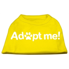 Mirage Pet Products Adopt Me Screen Print Shirt Yellow XXXL (20)
