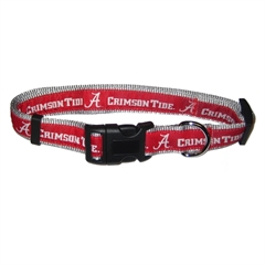 Mirage Pet Products Alabama Crimson Tide Collar Small