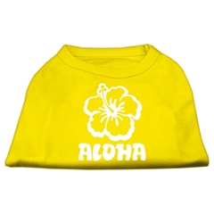 Mirage Pet Products Aloha Flower Screen Print Shirt Yellow XS (8)
