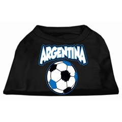 Mirage Pet Products Argentina Soccer Screen Print Shirt Black 5x (24)