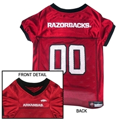Mirage Pet Products Arkansas Razorbacks Jersey XS