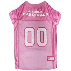 Mirage Pet Products Arizona Cardinals Pink Jersey LG