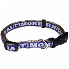 Mirage Pet Products Baltimore Ravens Collar Large