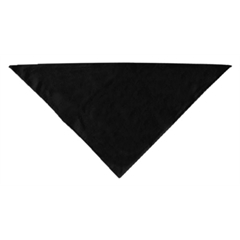 Mirage Pet Products Plain Bandana Black Large