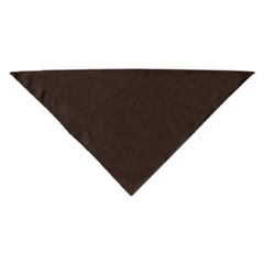 Mirage Pet Products Plain Bandana Cocoa Large