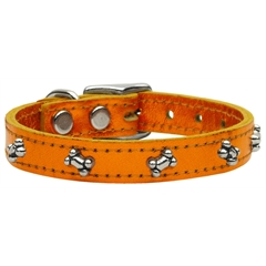 Mirage Pet Products Metallic Bone Leather  Metallic Orange 24