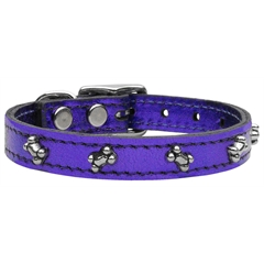 Mirage Pet Products Metallic Bone Leather  Purple MTL 26