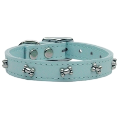 Mirage Pet Products Bone Leather Baby Blue 26