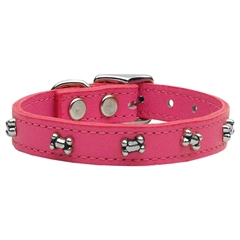 Mirage Pet Products Bone Leather Pink 20
