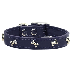 Mirage Pet Products Bone Leather Purple 24