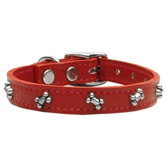 Mirage Pet Products Bone Leather Red 14
