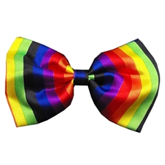 Mirage Pet Products Dog Bow Tie Rainbow