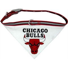 Mirage Pet Products Chicago Bulls Bandana Collar Small