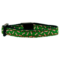 Mirage Pet Products Candy Cane Bones Nylon and Ribbon Collars  . Cat Safety