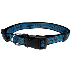 Mirage Pet Products Carolina Panthers Collar Small