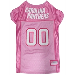 Mirage Pet Products Carolina Panthers Pink Jersey MD