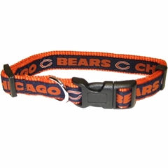 Mirage Pet Products Chicago Bears Collar Small