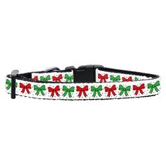 Mirage Pet Products Christmas Bows Nylon Ribbon Collar Small