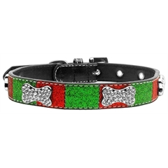 Mirage Pet Products Christmas Crystal Bone Collar Small