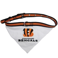 Mirage Pet Products Cincinnati Bengals Bandana Large
