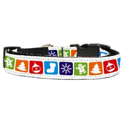 Mirage Pet Products Classic Christmas Nylon and Ribbon Collars . Large