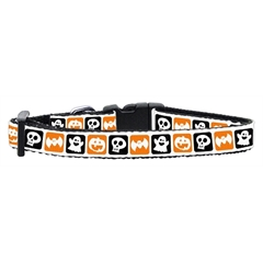 Mirage Pet Products Classic Halloween Nylon Ribbon Collar Small