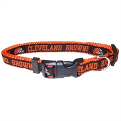 Mirage Pet Products Cleveland Browns Collar Large