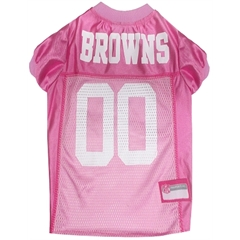 Mirage Pet Products Cleveland Browns Pink Jersey MD