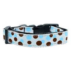 Mirage Pet Products Confetti Dots Nylon Collar Baby Blue Medium