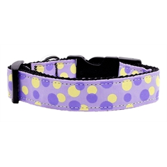 Mirage Pet Products Confetti Dots Nylon Collar Lavender Large