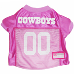 Mirage Pet Products Dallas Cowboys Pink Jersey MD