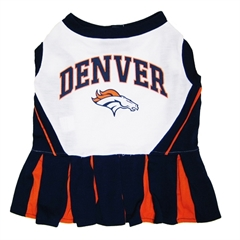 Mirage Pet Products Denver Broncos Cheer Leading XS