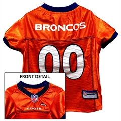 Mirage Pet Products Denver Broncos Jersey Large