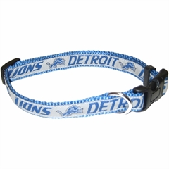 Mirage Pet Products Detroit Lions Collar Small