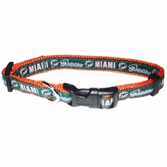 Mirage Pet Products Miami Dolphins Collar Small