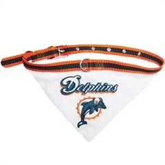 Mirage Pet Products Miami Dolphins Bandana Small