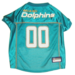 Mirage Pet Products Miami Dolphins Jersey Medium