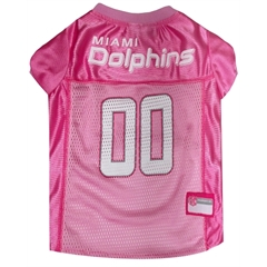 Mirage Pet Products Miami Dolphins Pink Jersey MD