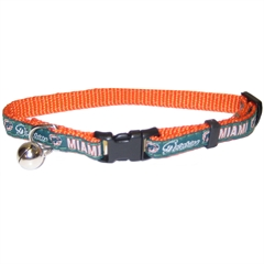 Mirage Pet Products Miami Dolphins Cat Collar