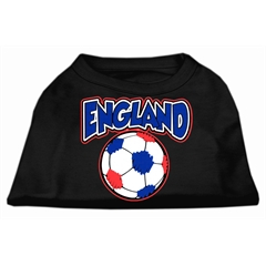 Mirage Pet Products England Soccer Screen Print Shirt Black 6x (26)