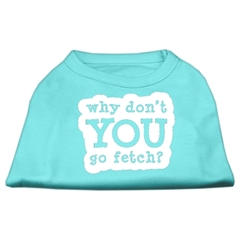 Mirage Pet Products You Go Fetch Screen Print Shirt Aqua XXL (18)