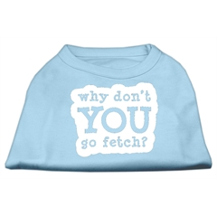 Mirage Pet Products You Go Fetch Screen Print Shirt Baby Blue XS (8)