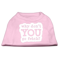 Mirage Pet Products You Go Fetch Screen Print Shirt Light Pink Med (12)