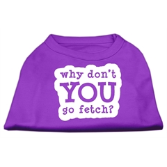 Mirage Pet Products You Go Fetch Screen Print Shirt Purple XXXL (20)