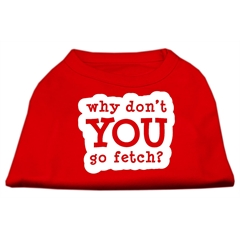 Mirage Pet Products You Go Fetch Screen Print Shirt Red XXXL (20)