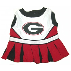 Mirage Pet Products Georgia Bulldogs Cheer Leading XS