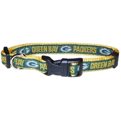 Mirage Pet Products Green Bay Packers Collar Large