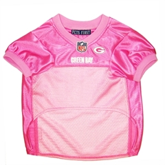 Mirage Pet Products Green Bay Packers Pink Jersey XS