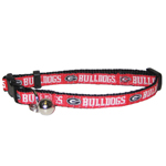 Mirage Pet Products Georgia Bulldogs Cat Collar
