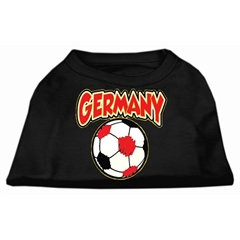 Mirage Pet Products Germany Soccer Screen Print Shirt Black Lg (14)